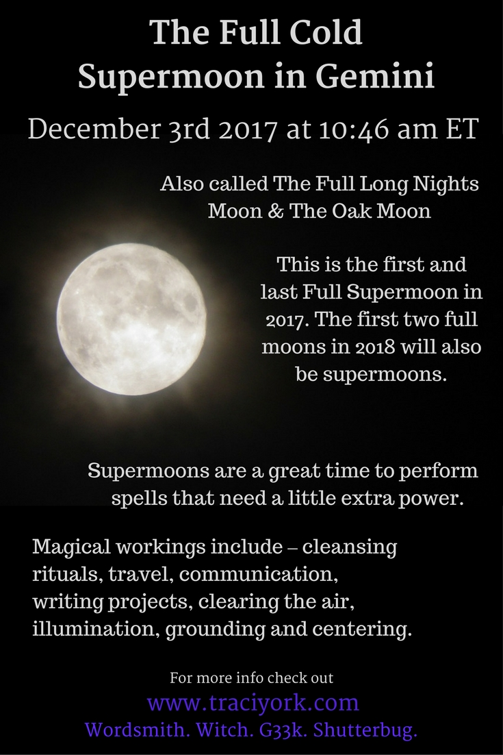 The Full Cold Supermoon in Gemini - Simple Rituals and ...